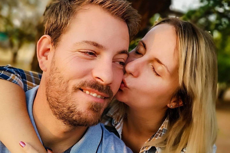Anna Heiser zusammen mit ihrem Ehemann Gerald.