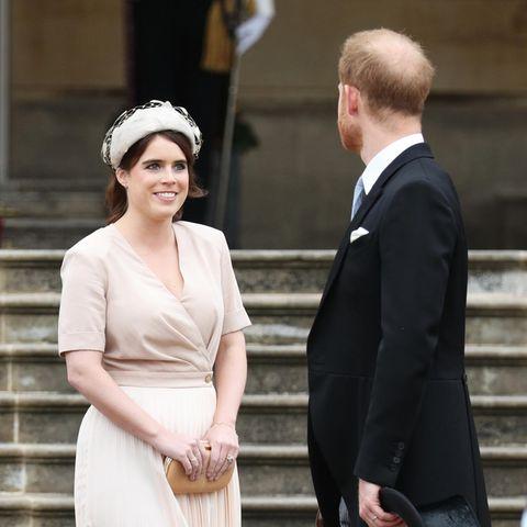 Prinzessin Eugenie mit ihrem Cousin Prinz Harry.