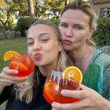 Lilly Krug und Veronica Ferres trinken Aperitivo
