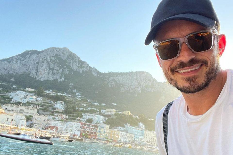 Orlando Bloom vor der Küste von Capri