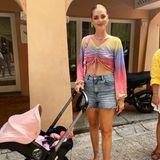 Chiara Ferragni mit Kinderwagen Doona