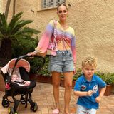 Chiara Ferragni mit Kindern Vittoria und Leone