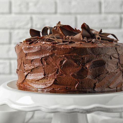Serviert mit Schokoladenraspeln
