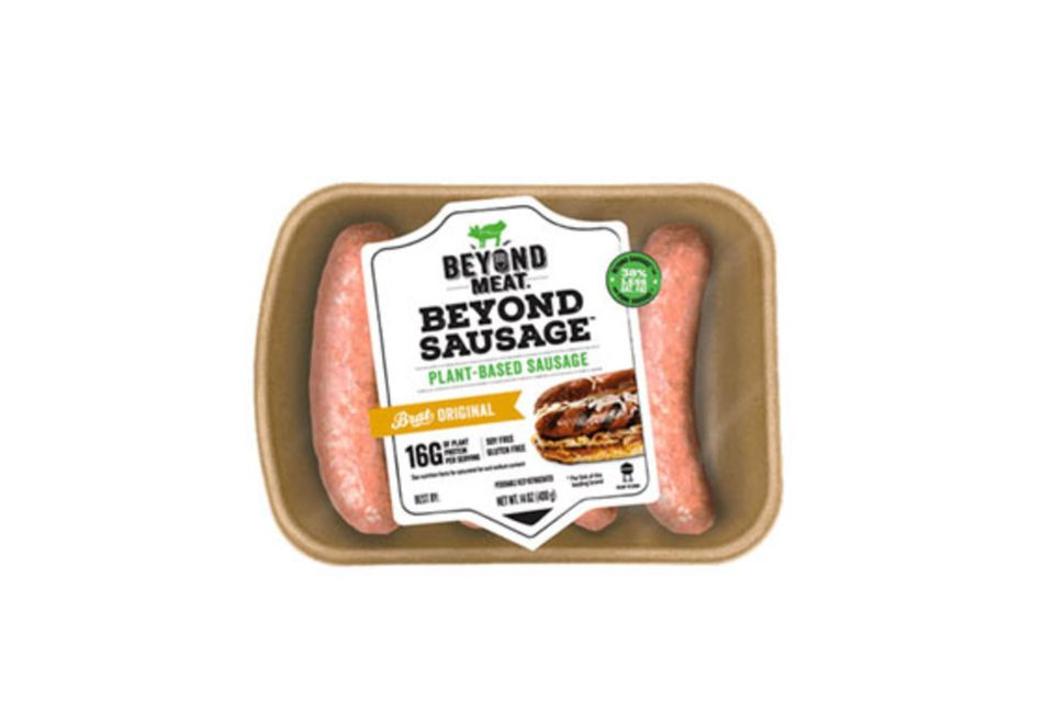 So cool können vegetarische Würstchen sein: Beyond Sausage besteht zu 100% aus pflanzlichen Zutaten wie Erbsen, Ackerbohnen, Reis und Ölen.