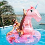 Luftmatratzen: Cathy Hummels im Pool mit Einhorn