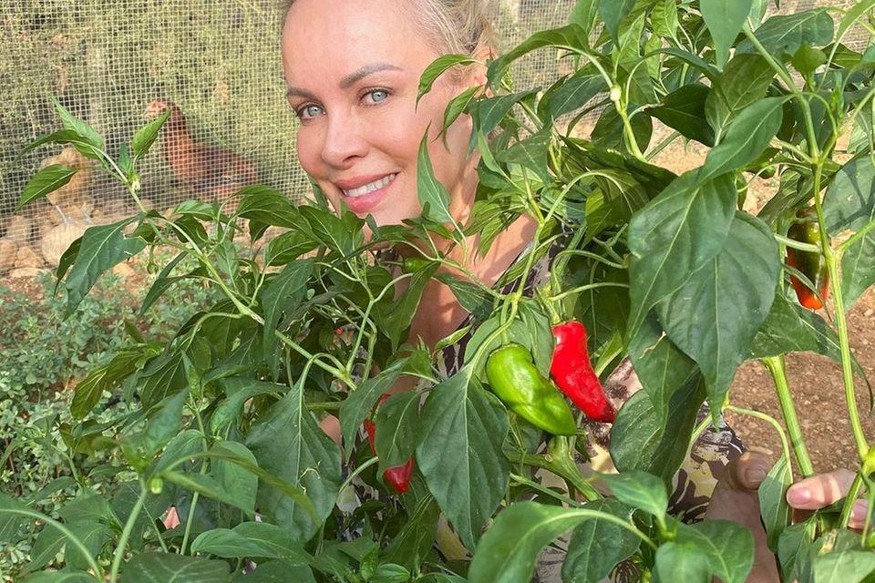 Gärten der Stars: Sonja Krchberger hinter Pflanze