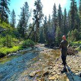 The Rock angelt in den Rocky Mountains