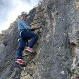 Sportliche Stars: Michelle Hunziker klettert