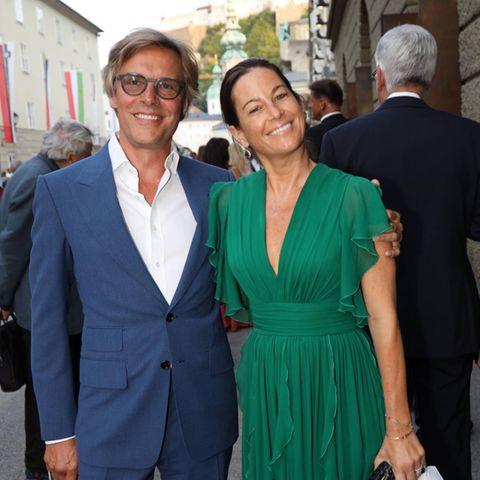 Marcus Sieberer und Birgit Lauda bei den Salzburger Festspielen.