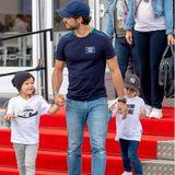 Prinz Alexander und Prinz Gabriel stylisch auf der Rennstrecke unterwegs
