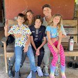 Familie Bündchen: Gisele Bündchen mit Tom Brady und ihren Kindern