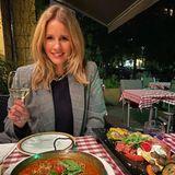 Mahlzeit: Mareile Höppner beim Lieblingsitaliener