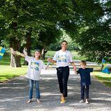 Schweden Royals: Prinzessin Victoria zusammen mit Estelle und Oscar