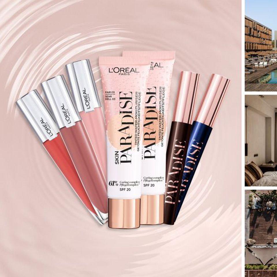 Gewinne zwei Übernachtungen im Deluxe Room des OKU Ibiza Hotels inkl. Frühstück sowie zwei Beauty-Sets von L'Oréal Paris im Gesamtwert von ca. 1.100,00 €.