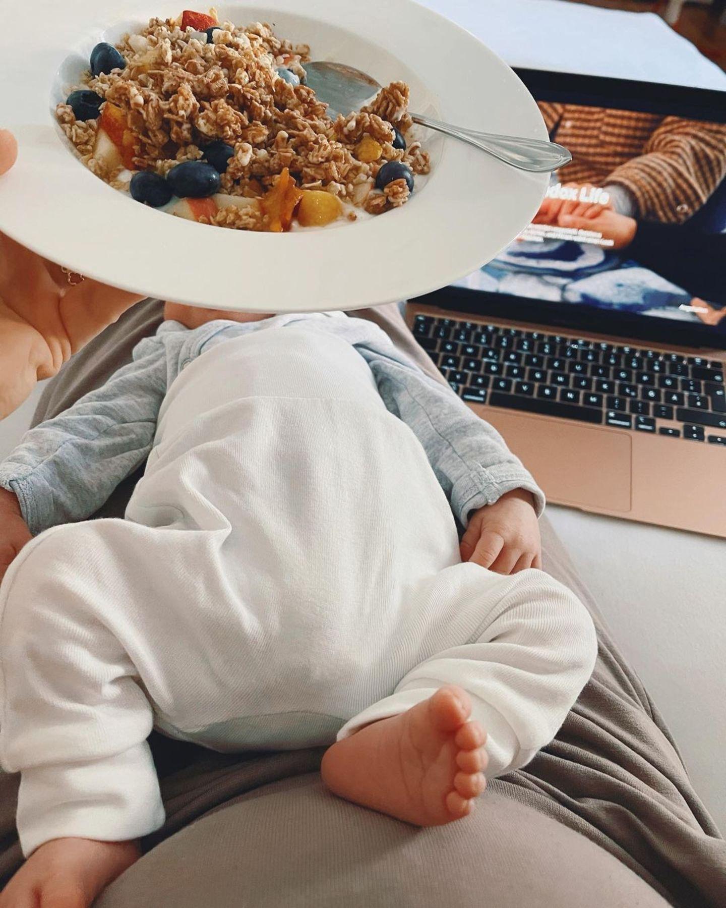 Star-Babys: Alina Merkau und Baby Carlo
