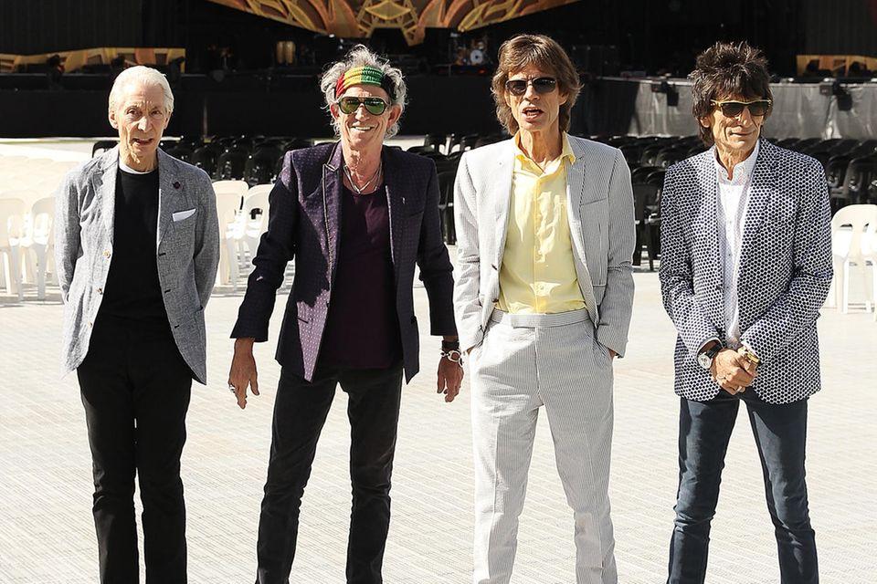 Charlie Watts, Keith Richards, Mick Jagger und Ronnie Wood.