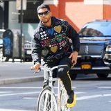 Stars auf dem Fahrrad: Usher