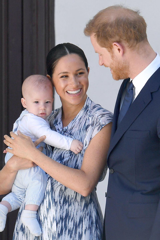 Herzogin Meghan, Prinz Harry und ihr Sohn ArchieMountbatten-Windsor.