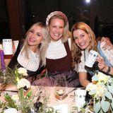Wiesn-Dinner: Kinga Mathe, Monica Ivancan und Anastasia Reinbold