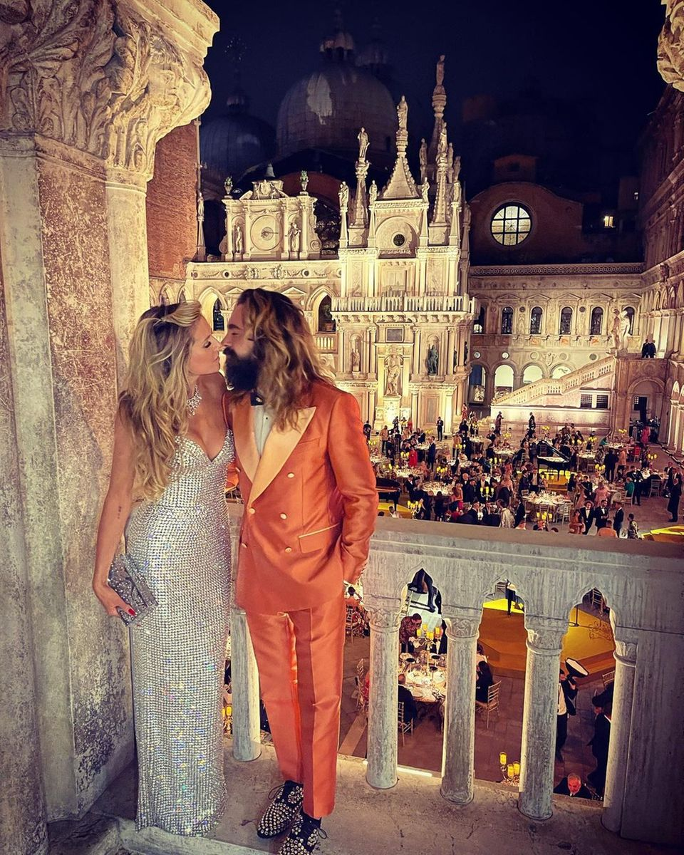 Heidi Klum und Tom Kaulitz: Kuss vor Venedigs Traumkulisse