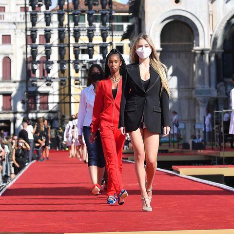 """Leni Klum bei den Proben für die """"Dolce & Gabbana"""" Fashion-Show am 29. August 2021 in Venedig, Italien."""