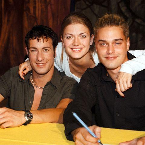 Die ehemaligen GZSZ-Stars Laurent Daniels, Nina Bott, Raphaël Vogt im Jahr 1998
