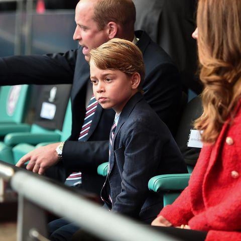 Prinz George mit seinen Eltern Prinz William und Herzogin Catherine