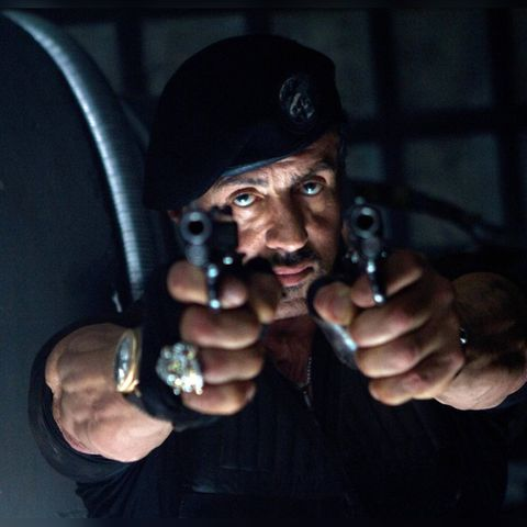 """Sylvester Stallone in """"The Expendables 2"""" (2012)."""