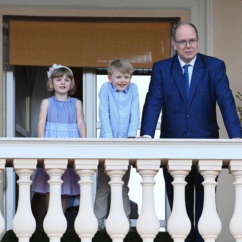 Prinzessin Gabriella,Prinz Jacques und Fürst Albert.