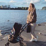 Kinderwagen der Stars: Fiona Erdmann mit Sohn