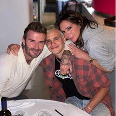 Familie Beckham: David, Romeo und Victoria lächeln in die Kamera