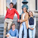 Belgische Royals: Foto der Geschwister zum Schulstart