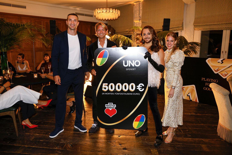 Wer sonst noch feiert: Wladimir Klitschko beim Uno Charity-Event