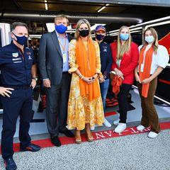 Und ein Gruppenfoto mit Teamchef Christian Horner (l.) und Max Verstappen ist natürlich auch noch drin.