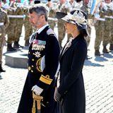 RTK: Prinz Frederik und Prinzessin Mary bei der Kranzniederlegung