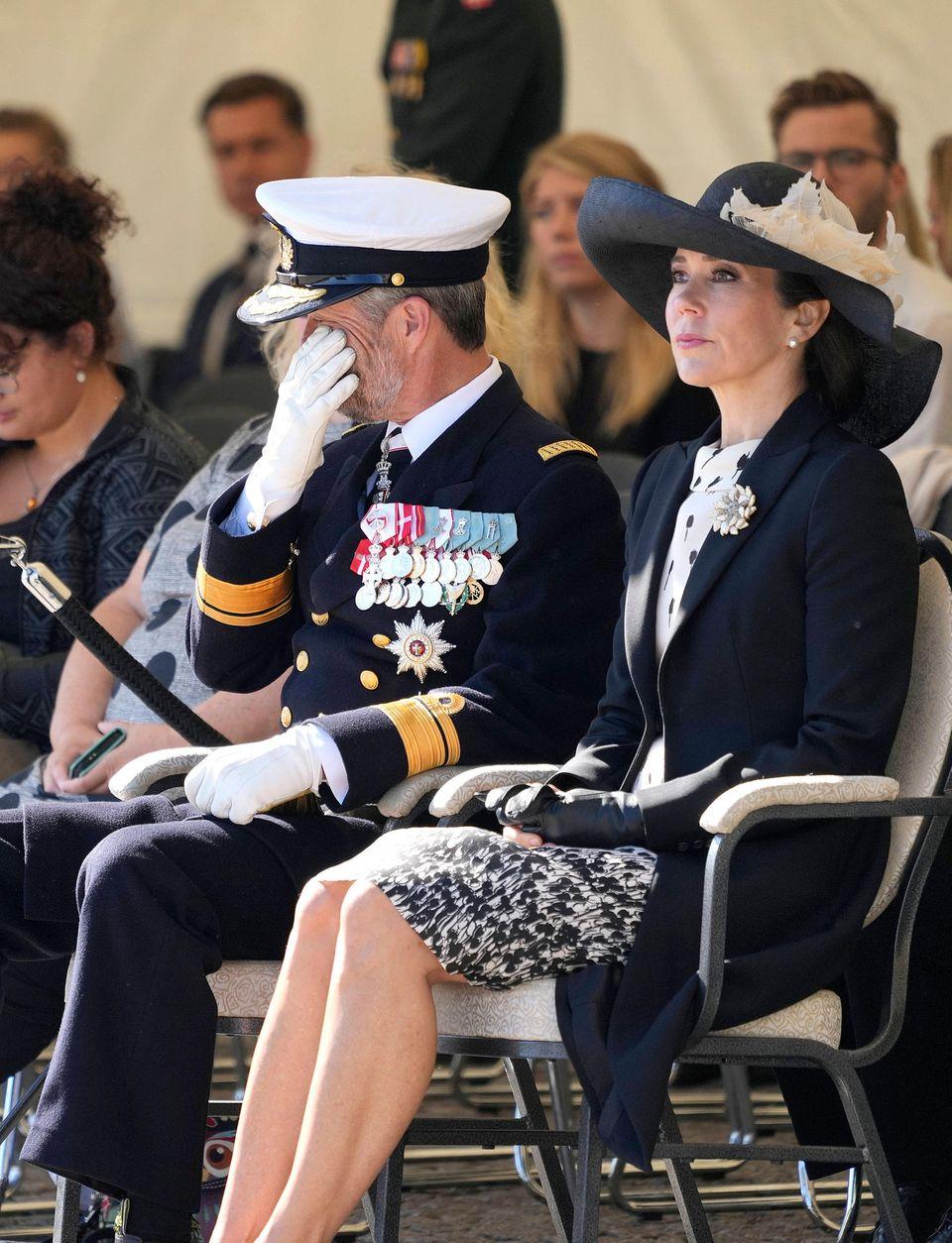 RTK: Prinz Frederik am Flaggentag in Kopenhagen den Tränen nah