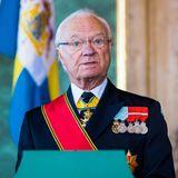 Schweden Royals: König Carl Gustaf hält eine Rede beim Empfang seiner Staatsgäste