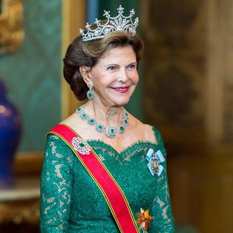 Königin Silvia beim Staatsbankett.
