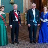 Das schwedische Königspaar mit dem Bundespräsidenten beim Staatsbankett