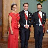 Schweden Royals: Staatsbankett mit Prinzessin Victoria, Prinz Daniel und Prinz Carl-Philip