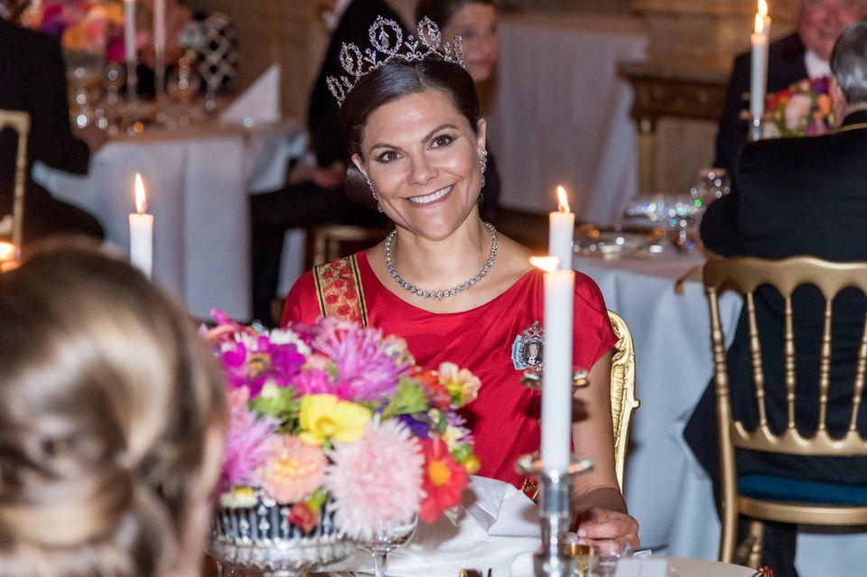 Prinzessin Victoria beim abendlichen Staatbankett