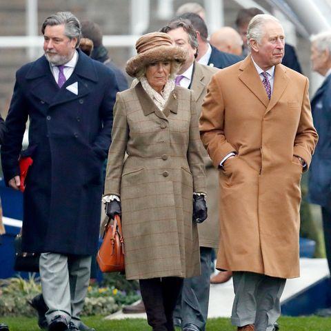 Michael Fawcett gemeinsam mit Herzogin Camilla und Prinz Charlesim November 2018.