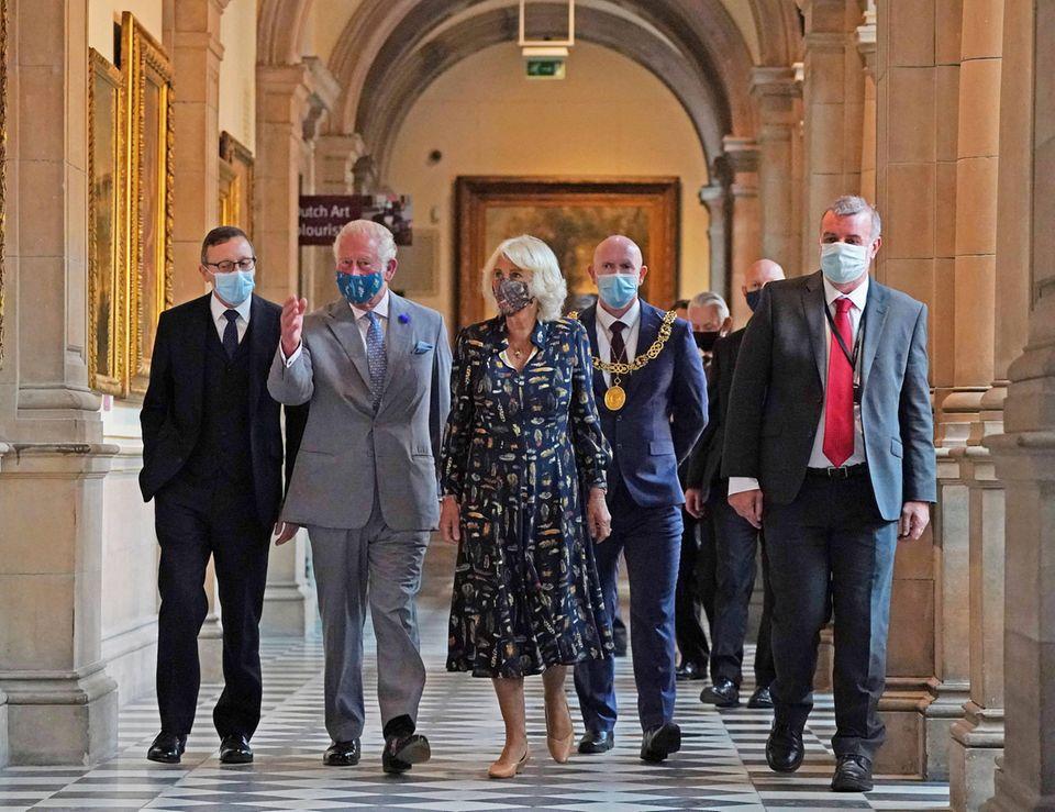 Windsor RTK: Prinz Charles und Herzogin Camilla im Museum