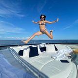 Jacht-Urlaub: Demi Moore springt auf Boot