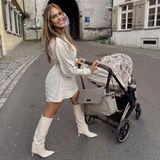 Kinderwagen der Stars: Jessica Paszka mit Kinderwagen