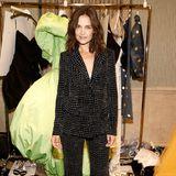 Katie Holmes posiert für die Fotografen auf der New York Fashion Week.