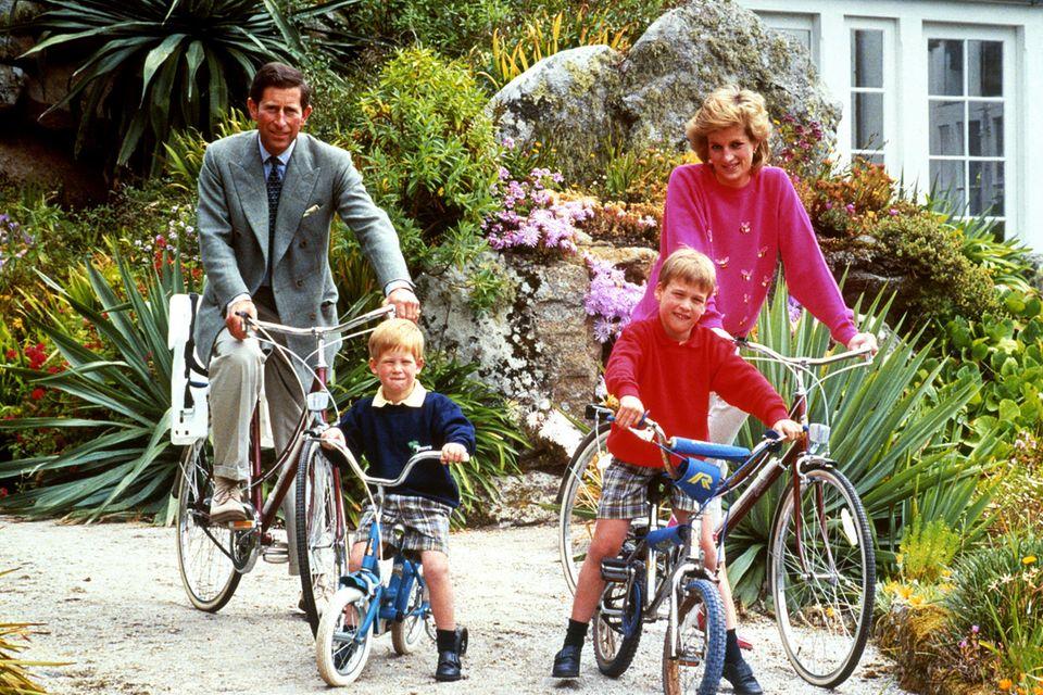 Hier die echten Royals: Prinz Charles, Prinz Harry, Prinz William und Prinzessin Diana (†)