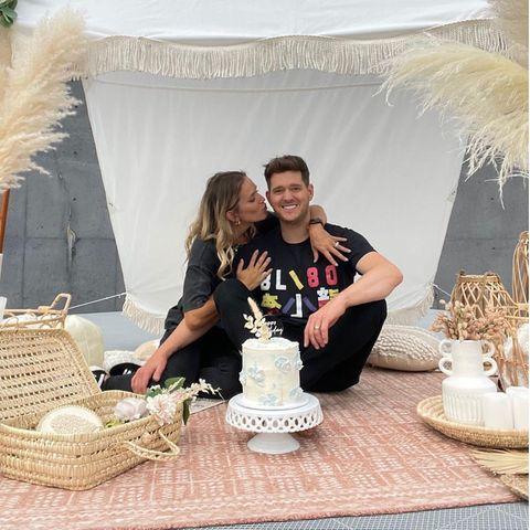 Stars feiern Geburtstag: Michael Bublé mit Ehefrau Luisana Lopilato