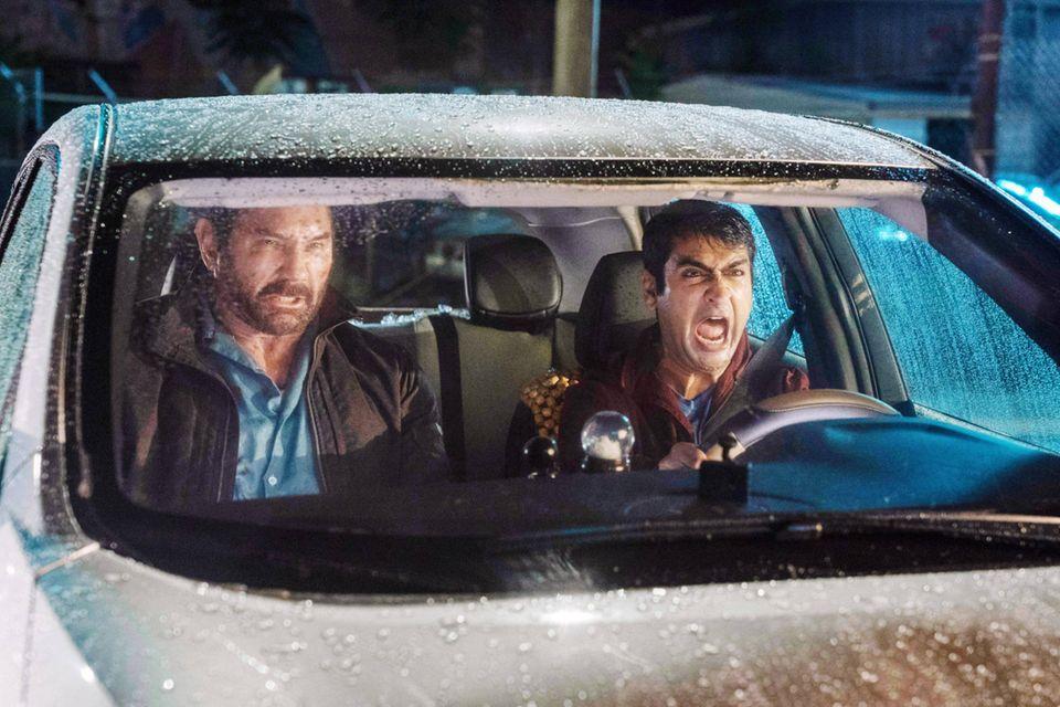 Vic Manning (Dave Bautista) und Stu (Kumail Nanjiani)
