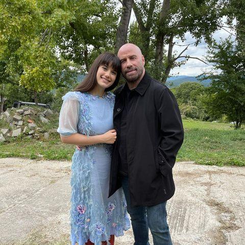Stars am Set: Ella und John Travolta